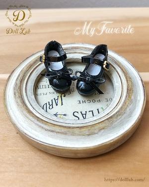 エナメルリボン靴 (Sofia) ソフィア 黒 ブライス D2007-BLK-30
