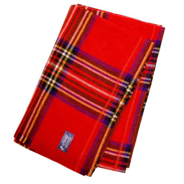 100%ピュアカシミヤブランケット毛布(レッド)