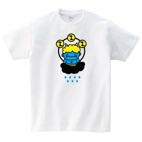 雷様 Tシャツ おもしろ Tシャツ メンズ レディース 半袖 ゆったり パロディ トップス 白 30代 40代 ペアルック ネタ 大きいサイズ 綿100% 160 S M L XL