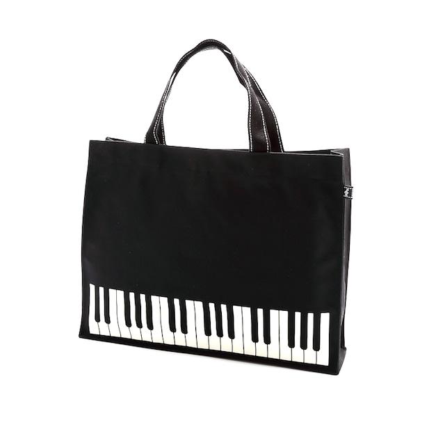レッスンバッグ オブロング 鍵盤 / ブラック