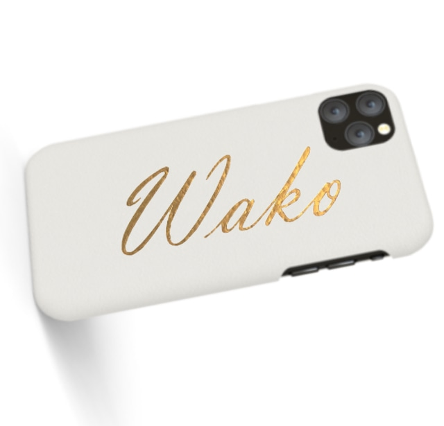 Custom Name iPhone with Premium Smooth Leather Case (Limited/10月分数量限定)