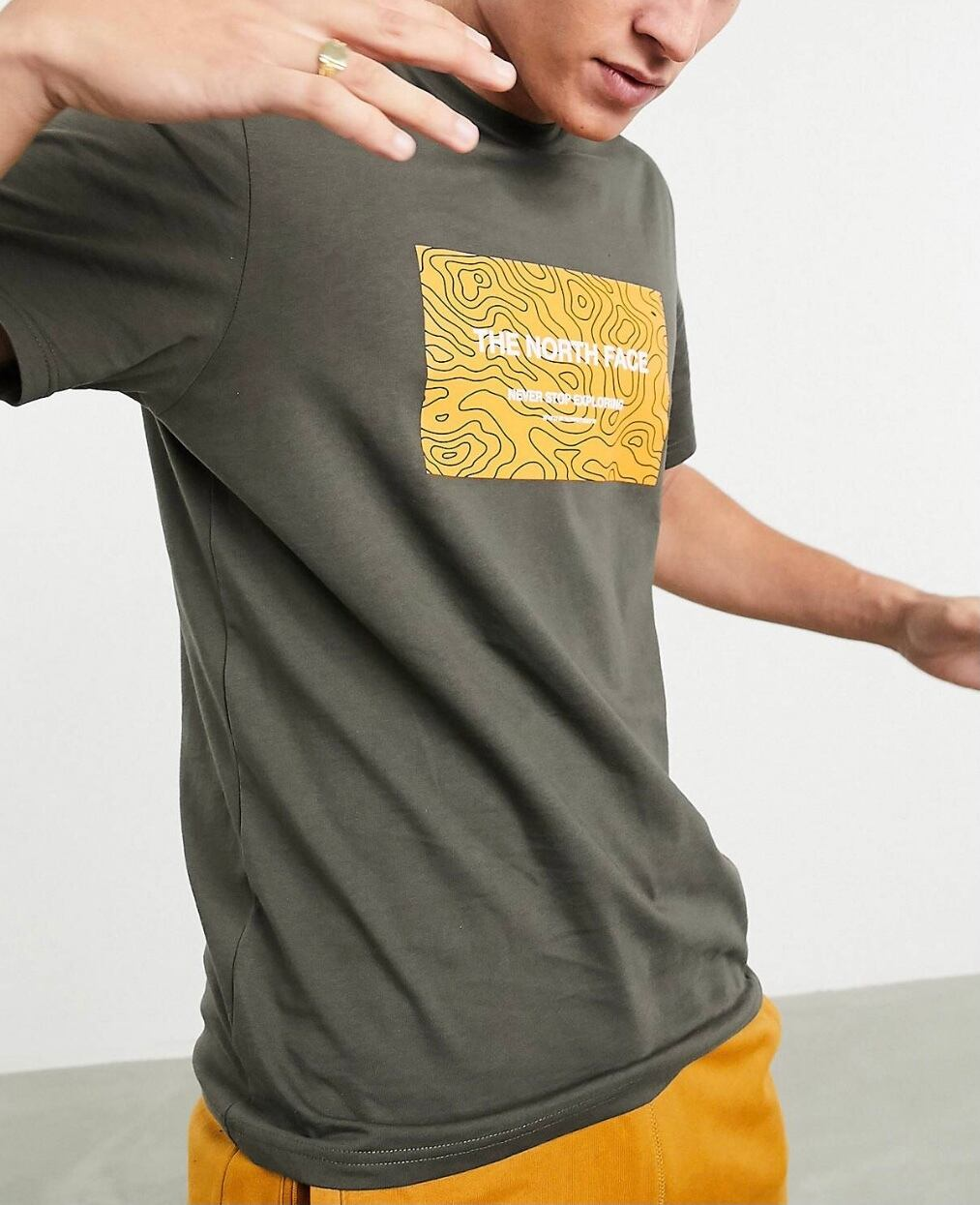 TNF Topo Box t-shirt / chacol gray