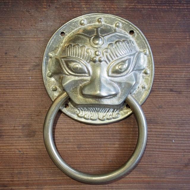 『オリエンタル金具/獅子』ドアノッカー/ドア飾り【中国真鍮金具】