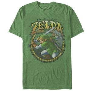 Tシャツ ゼルダの伝説 リンク グリーン