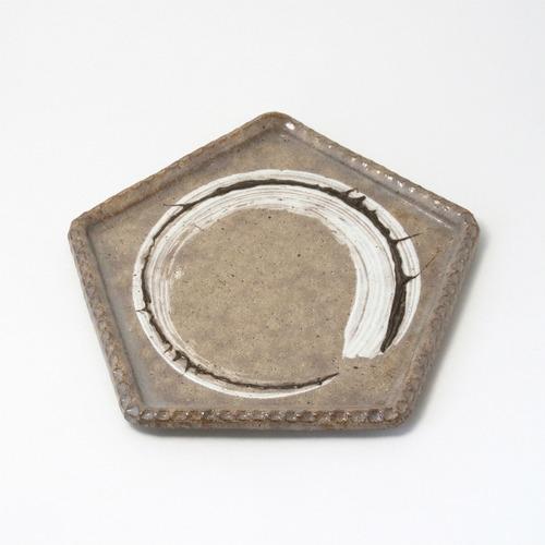 LUC DE BOECK 5角皿 ルック・デ・ブック 京焼
