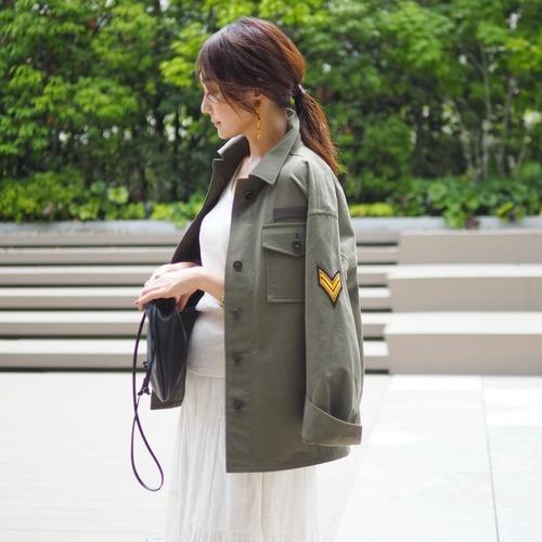 【予約販売】KU-UM×yokoミリタリージャケット カーキ