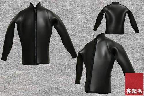 ダイビング起毛エアホットスキン6.5mm長袖ジャケット立衿(フルオーダー料込)wsm1710dロクハン