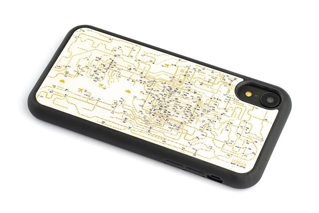 FLASH 関西回路線図 iPhone XRケース 白【東京回路線図A5クリアファイルをプレゼント】