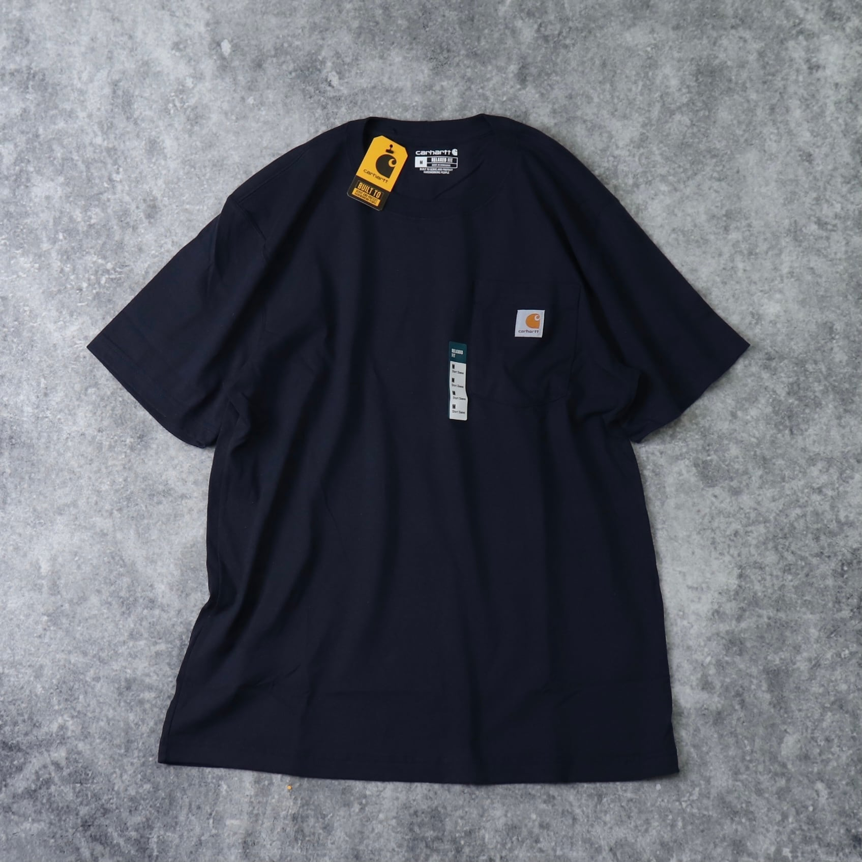 """新品 """" CARHARTT """" カーハート ポケット ロゴTシャツ (NAVY) USA規格"""