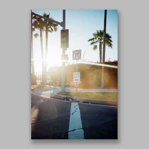 Postcard「Sunset Intersection」13cm×18cm Original Print