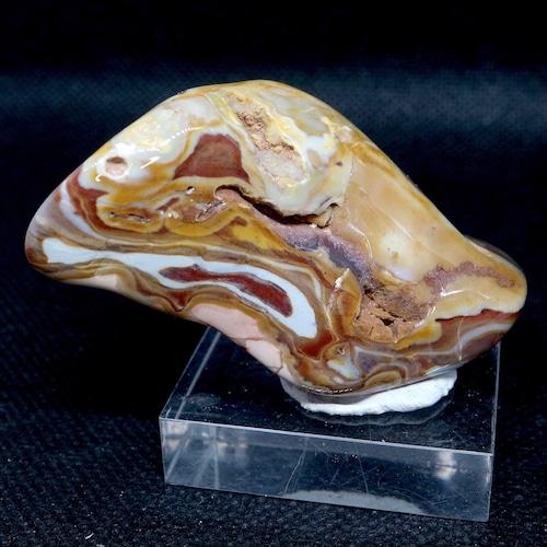 レインボー カルセドニー 54g RCD020 玉髄 鉱物 原石 天然石 パワーストーン
