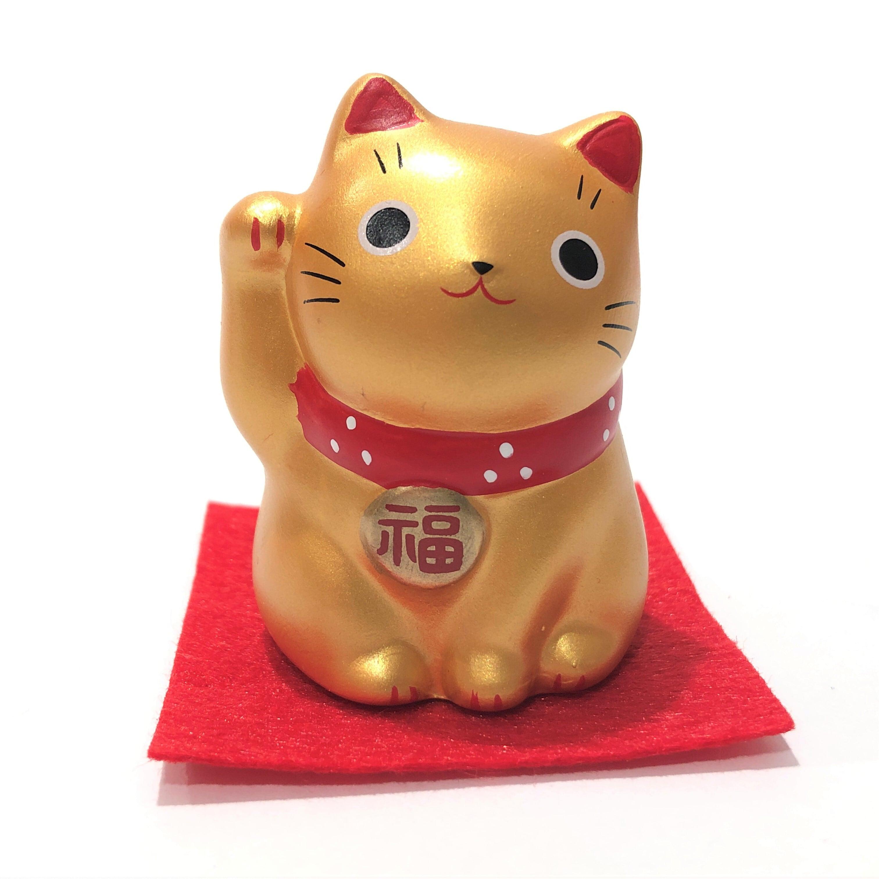 錦彩福おいで招き猫 金猫 財運出世