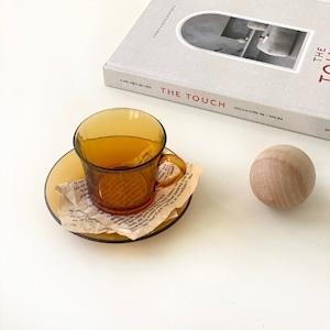 brown tea cup / ブラウン ティーカップ ソーサーセット 耐熱ガラス 韓国 北欧 キッチン 雑貨