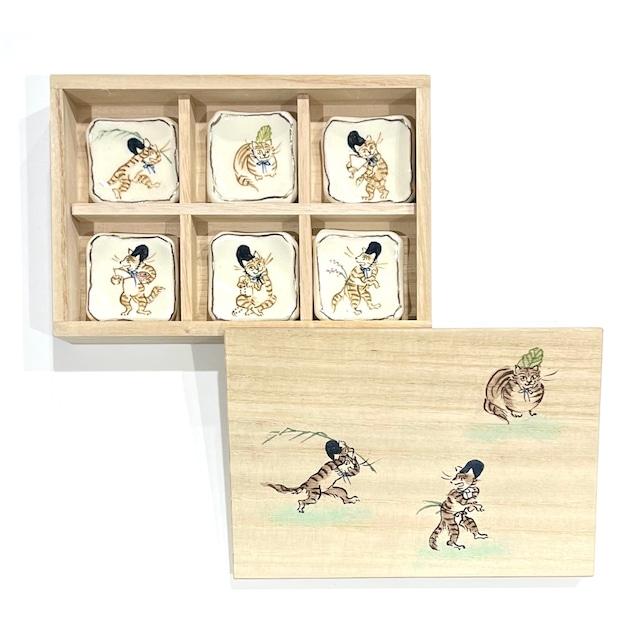 【ご予約商品】高山寺画 ねこ 箸置き《陶泉窯》