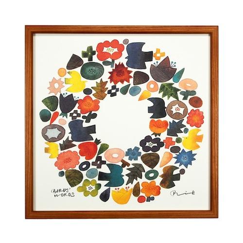 BIRDS' WORDS(バーズワーズ) Poster 30 Wreath 額装タイプ