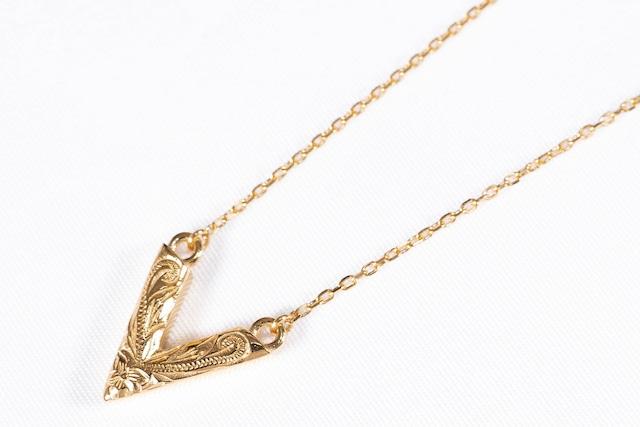 【316L Hawaiian v choker necklace】/ GOLD