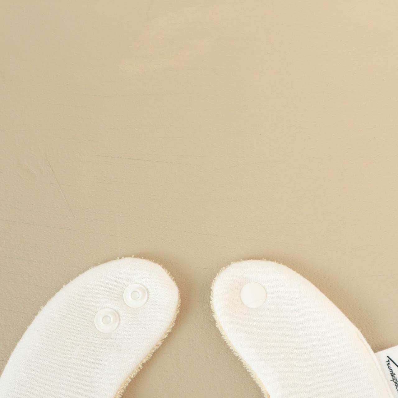 【販売終了】つみきどうぶつのおめかしbib(フルーツ牛乳)