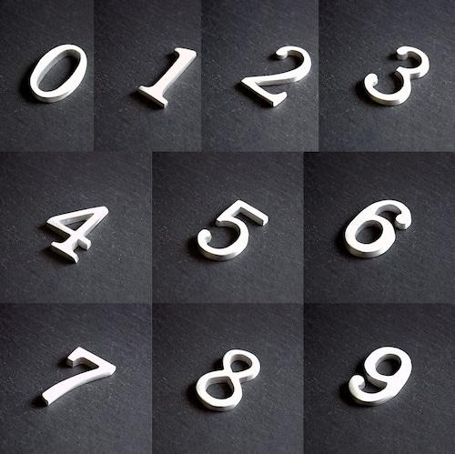 アルミ ナンバー&イニシャル(0-9)