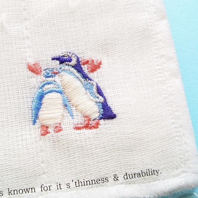 新商品《鳥/ペンギン》 かやのふきん 布巾 白 キッチン雑貨 キッチン用品