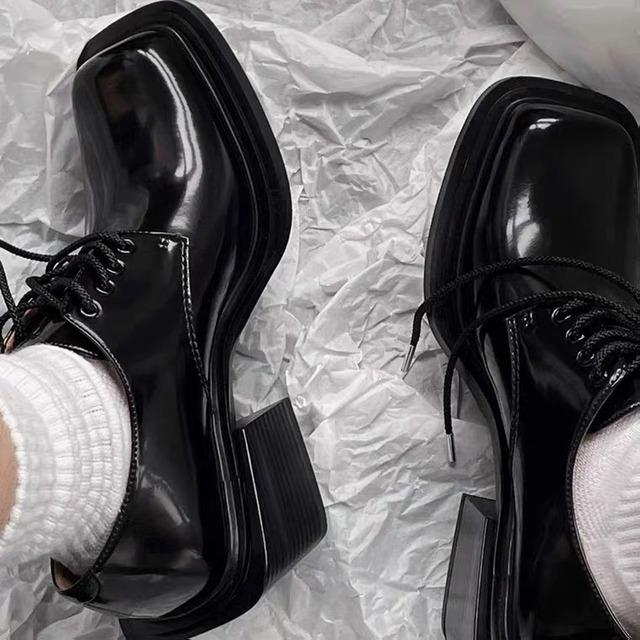 square heels loafer