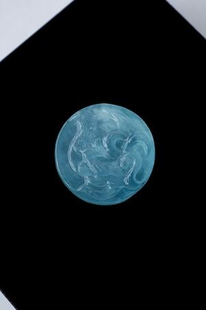 Carving Aquamarine - 004 Ninetails Fox