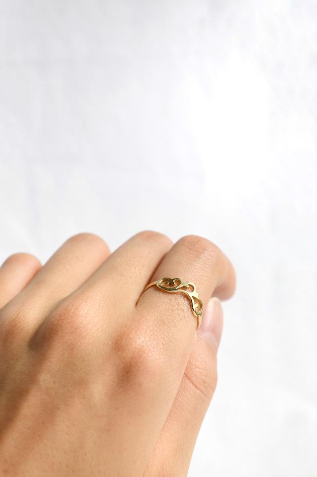 K18Arabesque Design Ring thin 18金アラベスクデザインリング(細)