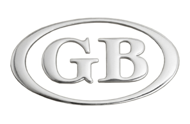 GB・クローム・ロゴ・ステッカー