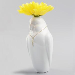オウムの花瓶(チャーム付) / Parrot Vase