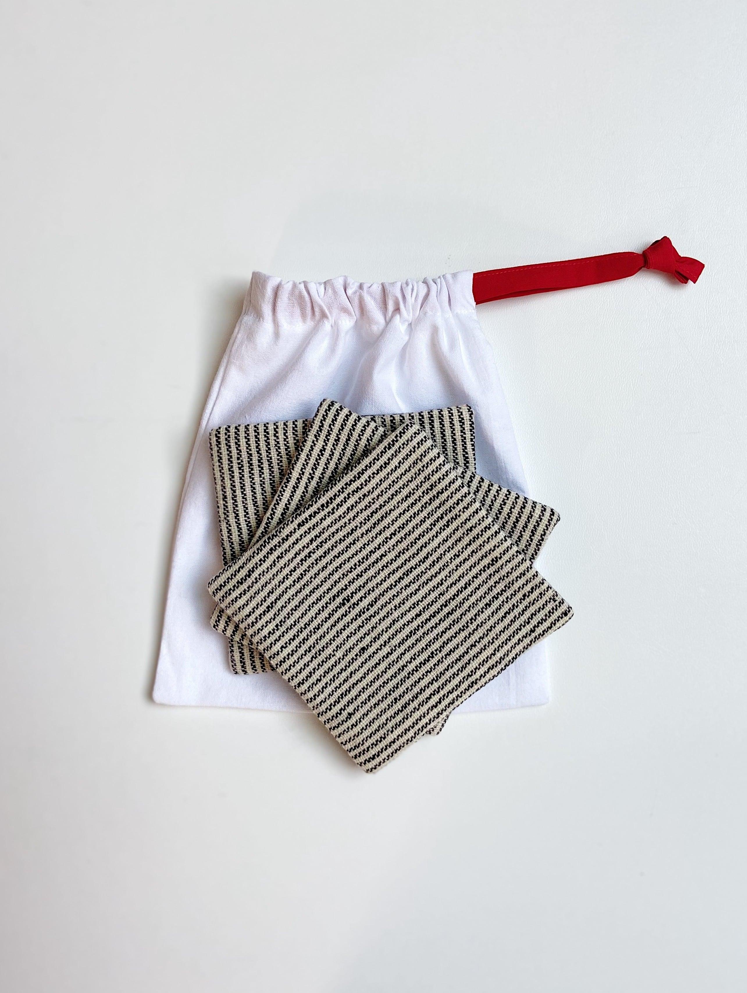 【3枚セット】手織りコースター(HAND WOVEN Coaster pinstripe )