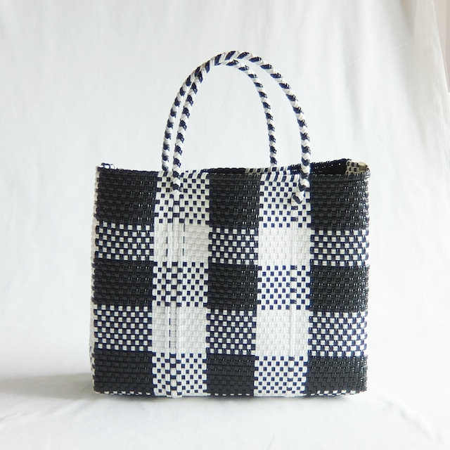 Letra - メルカドバッグ BIG CHECK - Black × White - サイズXS