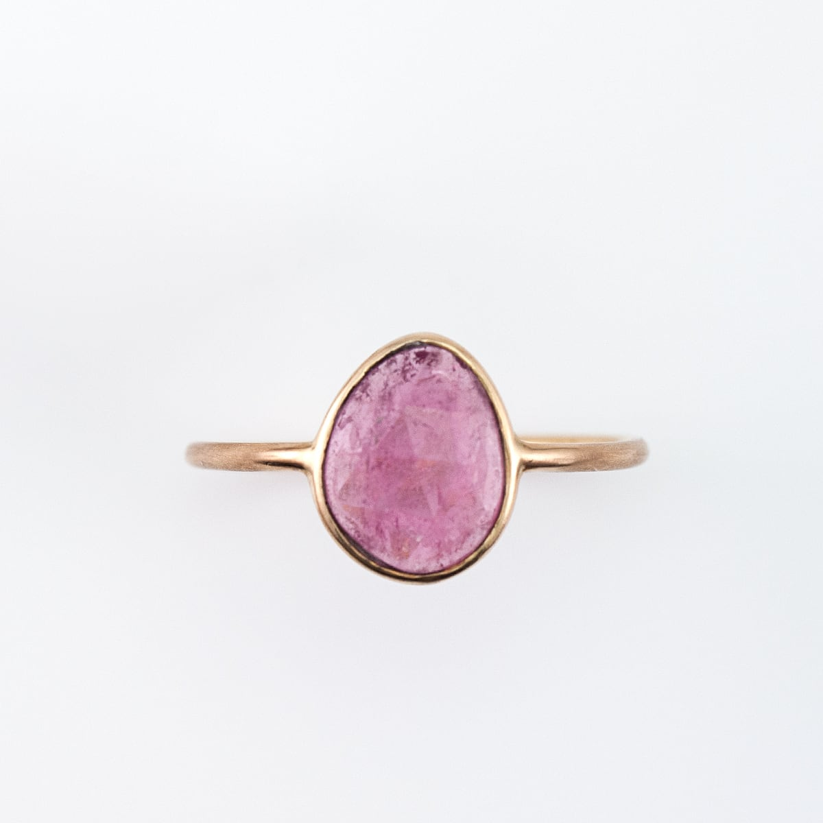 Pink tourmaline ring / Rosecut