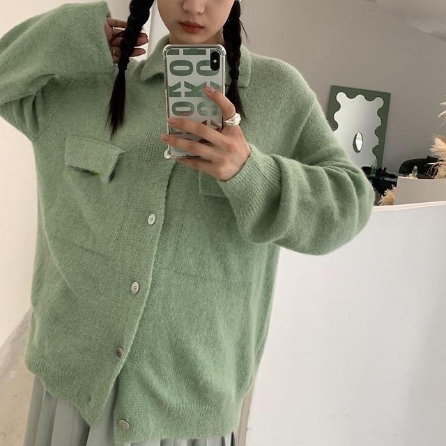 Knit shirt cardigan(ニットシャツカーディガン)b-479