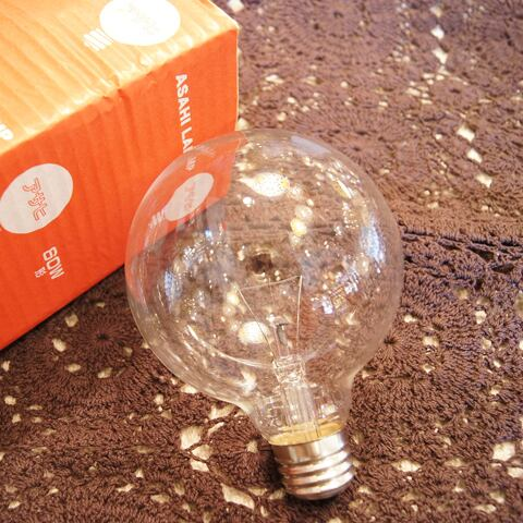 E26 60W ボール球 クリア (白熱電球)