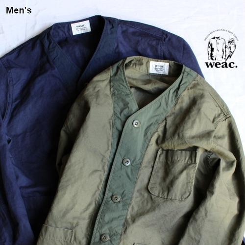 weac. ノーカラーシャツジャケット VICTOR 2カラー