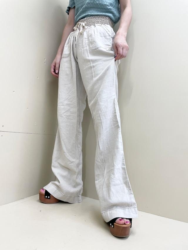 design linen wide pants  / 7SSPT01-10