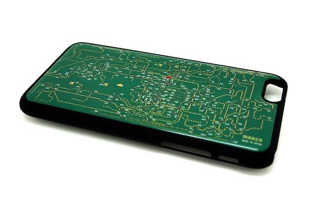 関西回路線図 iphone6/6s  case 緑【LEDは光りません】【東京回路線図A5クリアファイルをプレゼント】