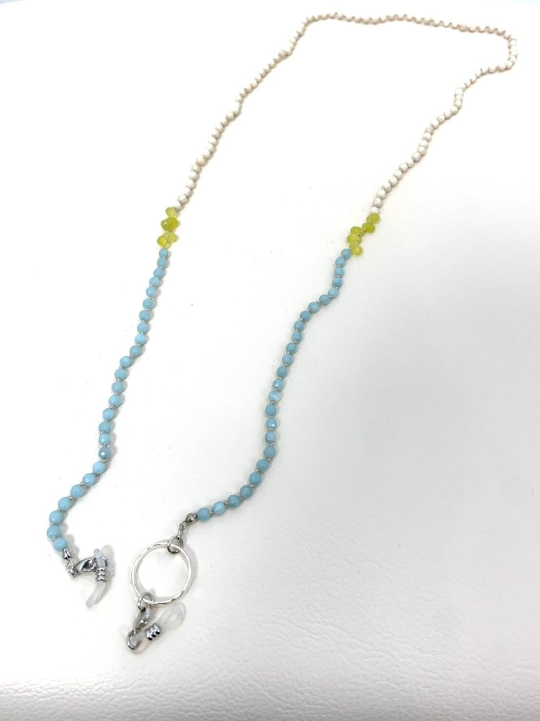 【 Atelier Mallet】天然石オールノットグラスコード4mm/IVRBLYE