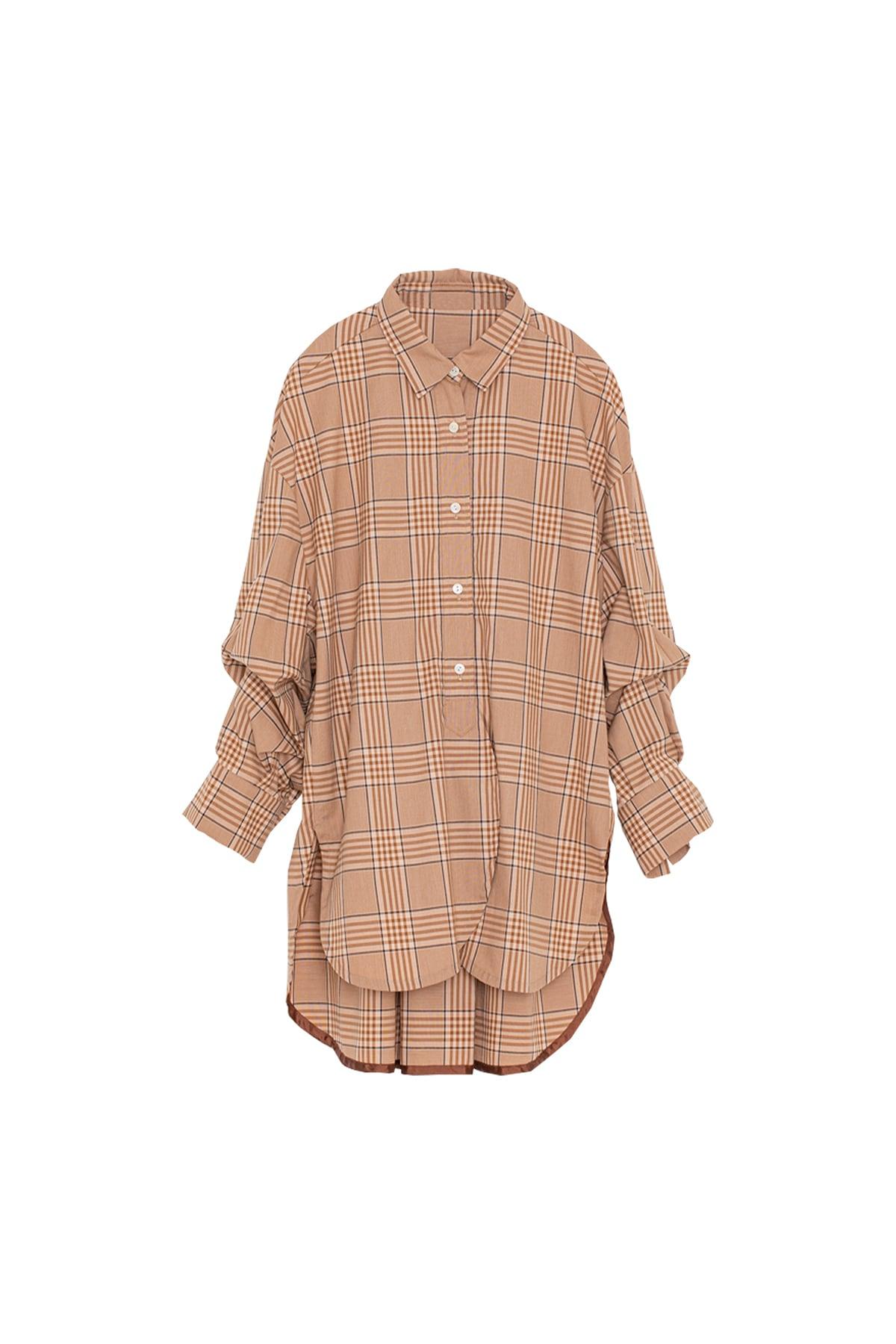 ラウンドヘムシャツ< beige >