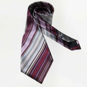Multi Stripes - Wine どんな色のスーツもおしゃれにまとめる マルチカラーのシルクネクタイ-0015