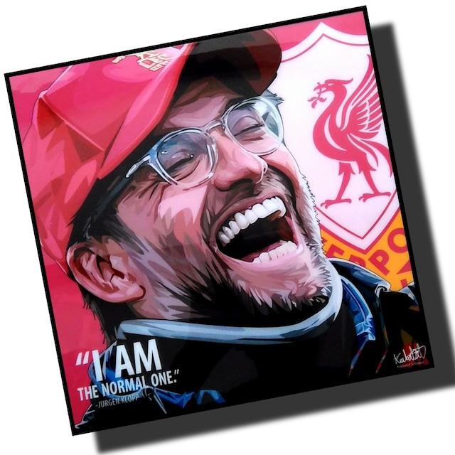 ユルゲン・クロップ リバプールFC サッカーアートパネル 木製 壁掛け ポスター グラフィックアート ポップアート (001-198)