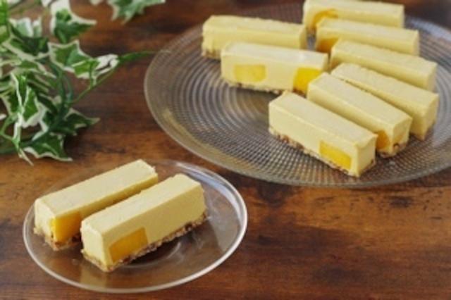 ★通販ショップ移転★【マンゴー】ヴィーガンローケーキ(10本セット)《卵・バター・乳・小麦・白砂糖不使用 冷凍》