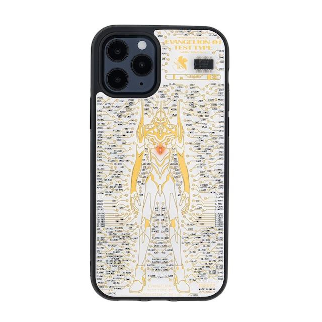 FLASH EVA01 基板アート iPhone 12 / 12 Pro ケース 白【東京回路線図A5クリアファイルをプレゼント】
