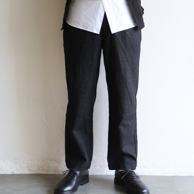 STILL BY HAND【 mens 】 cotton linen 2tuck pants