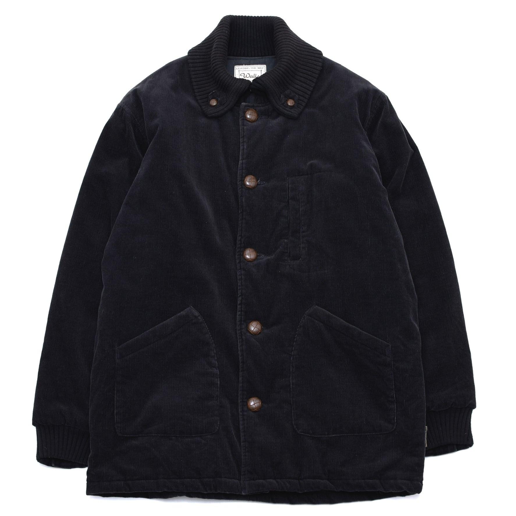 Black corduroy spanish collar coat