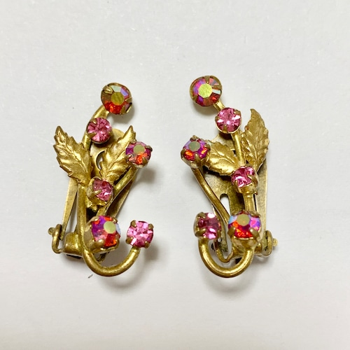 Vintage Bijoux Botanical Earrings Made In Austria