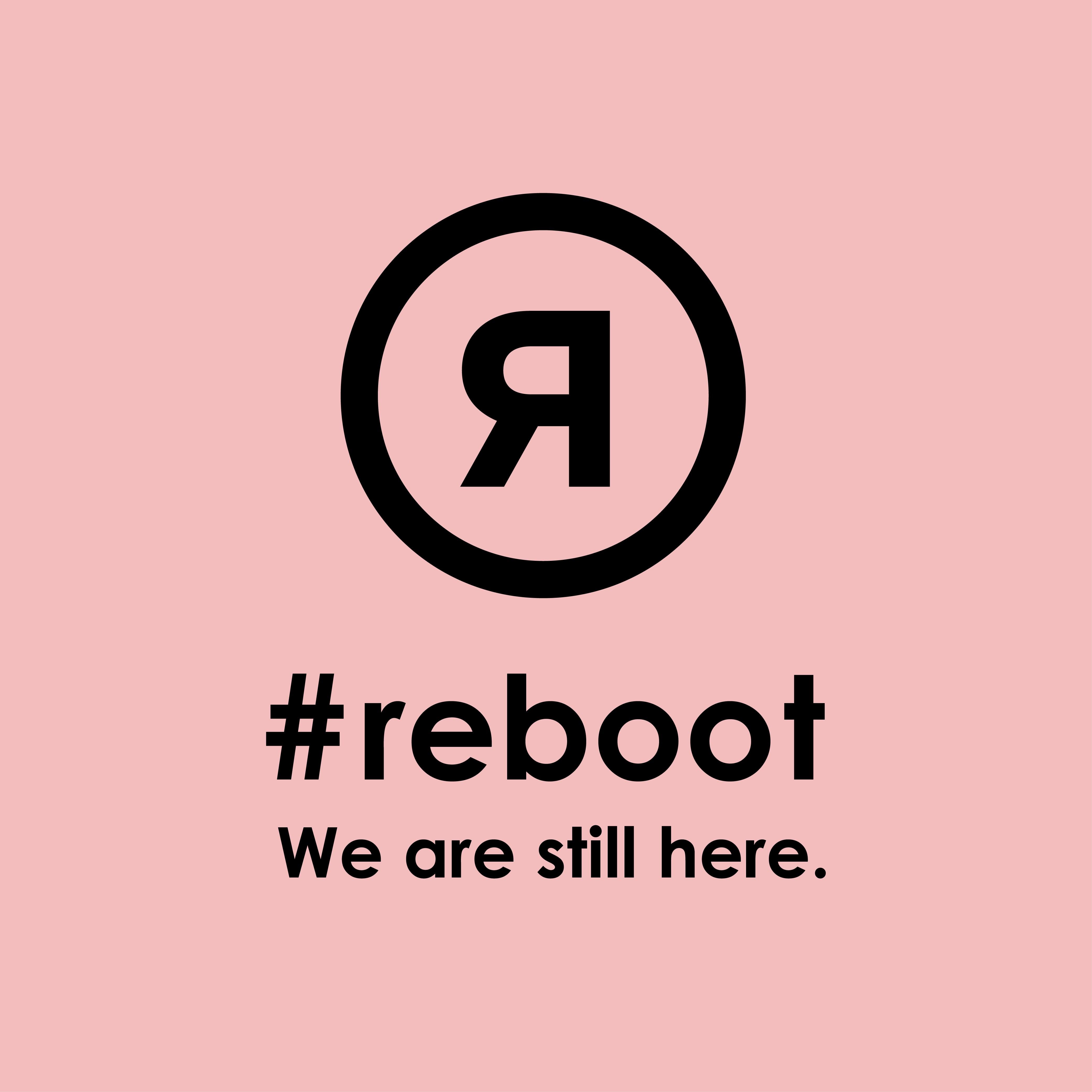 #rebootステッカー ピンク