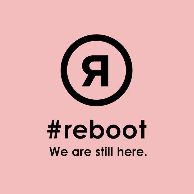 #rebootステッカー|ピンク