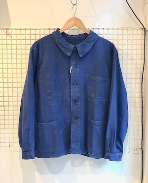 French Cotton Work Chore Jacket 1960s
