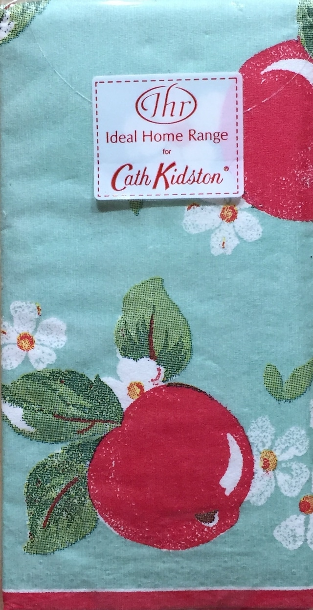 【Cath Kidston】バラ売り1枚 ポケットサイズ ペーパーナプキン KIDSTON APPLES グリーン