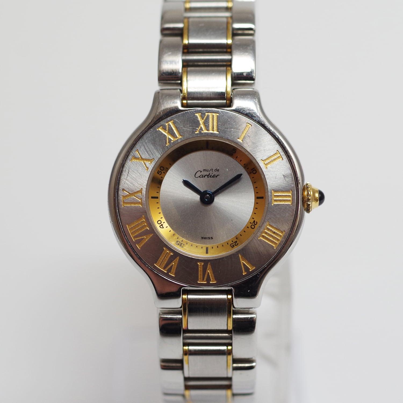Cartier カルティエ マスト21 ヴァンティアン コンビ クォーツ 腕時計 レディース